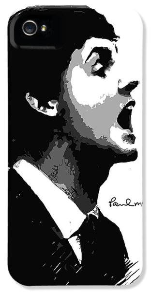 The Beatles iPhone 5 Cases - Paul McCartney No.01 iPhone 5 Case by Caio Caldas