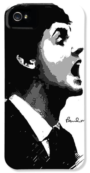 Face iPhone 5 Cases - Paul McCartney No.01 iPhone 5 Case by Caio Caldas