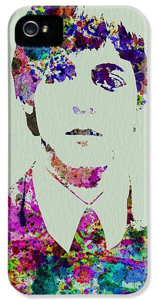 Paul Mccartney iPhone 5 Cases - Paul McCartney Watercolor iPhone 5 Case by Naxart Studio