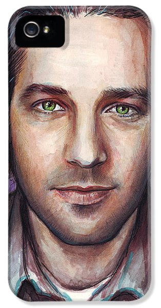 Paul Rudd Portrait IPhone 5 / 5s Case by Olga Shvartsur