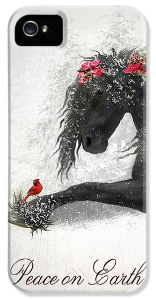 Snow iPhone 5 Cases - Peace on Earth iPhone 5 Case by Fran J Scott