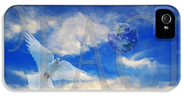 Dove iPhone 5 Cases - Peace - World Peace Art By Sharon Cummings iPhone 5 Case by Sharon Cummings