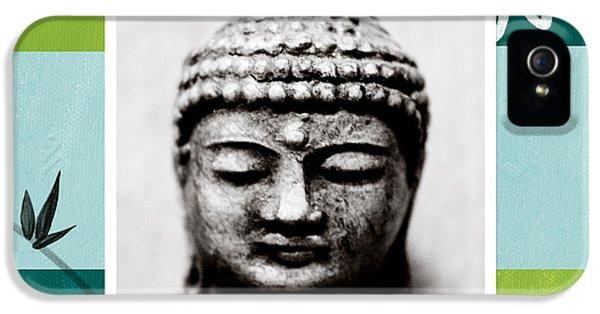 Peaceful Buddha- Zen Art IPhone 5 / 5s Case by Linda Woods