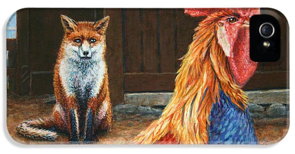 Red Fox iPhone 5 Cases - Peaceful Coexistence iPhone 5 Case by James W Johnson