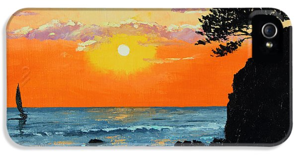 Jeans iPhone 5 Cases - Peaceful Sunset iPhone 5 Case by Jean-Marc Janiaczyk