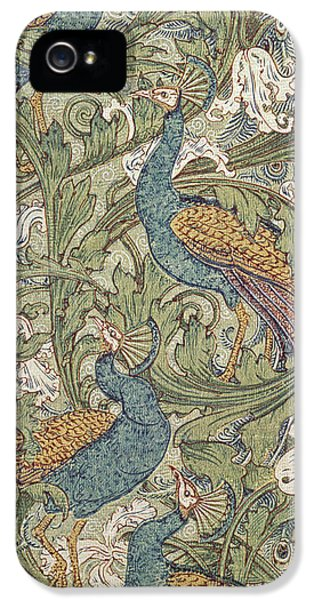 Arts And Crafts Movement iPhone 5 Cases - Peacock Garden Wallpaper, 1889 iPhone 5 Case by Walter Crane