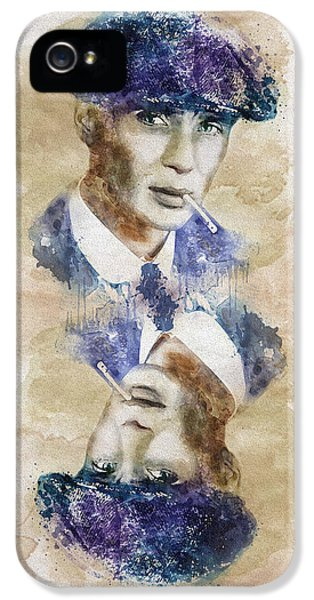 British Crime iPhone 5 Cases - Peaky Blinders Playing Card iPhone 5 Case by Marian Voicu