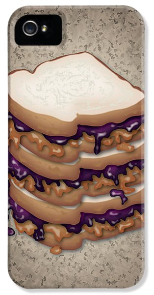 Best Friends Forever iPhone 5 Cases - Peanut Butter and Jelly Sandwich iPhone 5 Case by Ym Chin