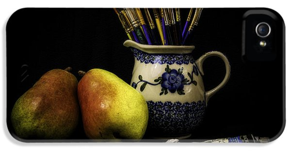 Pears And Paints Still Life IPhone 5 / 5s Case by Jon Woodhams
