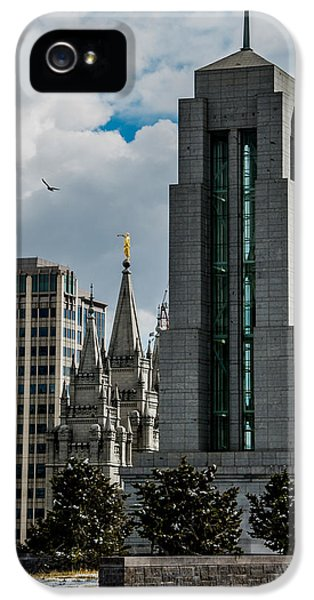 Slc iPhone 5 Cases - Peek a Boo SLC Temple iPhone 5 Case by La Rae  Roberts