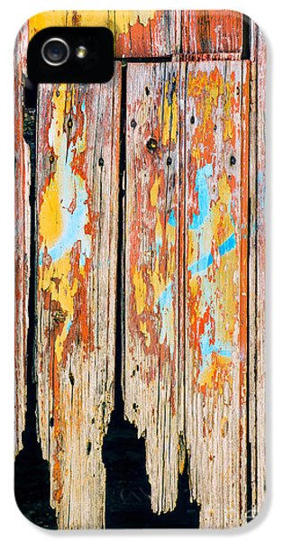 Shed iPhone 5 Cases - Peeling Door iPhone 5 Case by Carlos Caetano