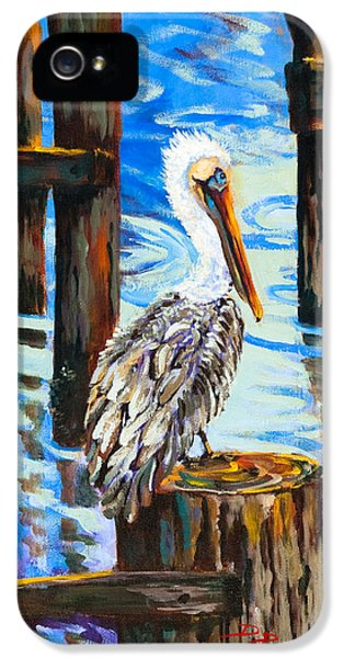 State Bird iPhone 5 Cases - Pelican and Pilings iPhone 5 Case by Dianne Parks