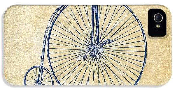 Engineer iPhone 5 Cases - Penny-Farthing 1867 High Wheeler Bicycle Vintage iPhone 5 Case by Nikki Marie Smith
