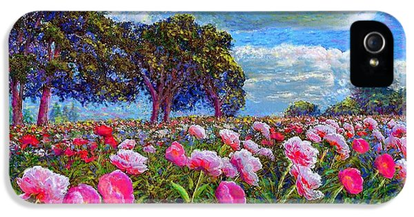 Flowering iPhone 5 Cases - Peony Heaven iPhone 5 Case by Jane Small