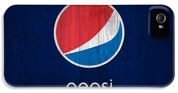 Red White And Blue iPhone 5 Cases - Pepsi Barn Sign iPhone 5 Case by Dan Sproul