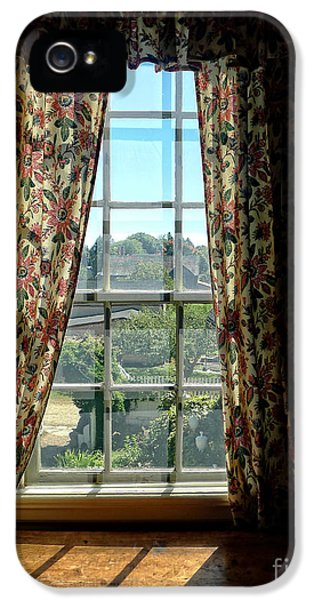 Period Window With Floral Curtains IPhone 5 / 5s Case by Edward Fielding
