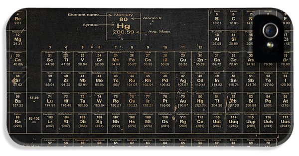 Element iPhone 5 Cases - Periodic Table of the Elements iPhone 5 Case by Grace Pullen