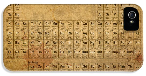 Vintage iPhone 5 Cases - Periodic Table of the Elements iPhone 5 Case by Design Turnpike