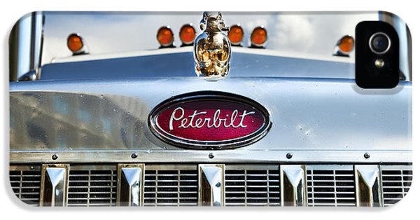 Trailer iPhone 5 Cases - Peterbilt iPhone 5 Case by Theresa Tahara