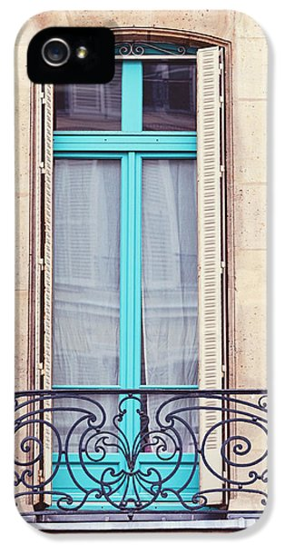 Window iPhone 5 Cases - Petit - Parisian Balcony  iPhone 5 Case by Melanie Alexandra Price
