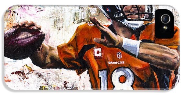 Pieces iPhone 5 Cases - Peyton Manning iPhone 5 Case by Mark Courage