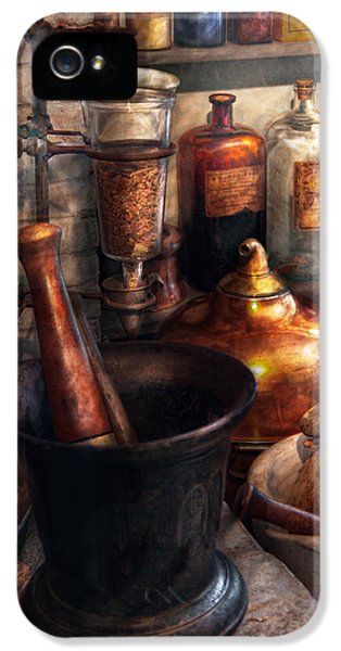 Pharmacy - Pestle - Pharmacology IPhone 5 / 5s Case by Mike Savad