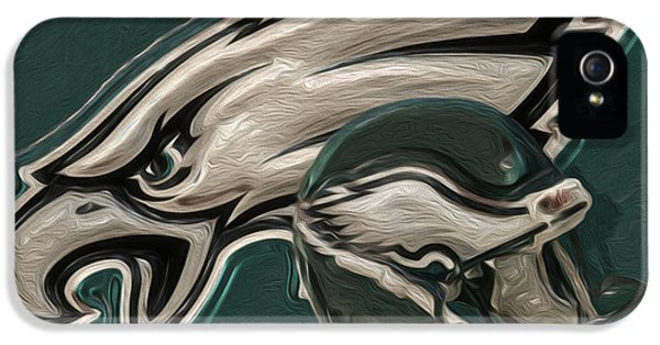 Painter iPhone 5 Cases - Philadelphia Eagles iPhone 5 Case by Jack Zulli