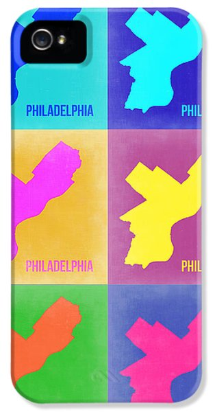 Philadelphia iPhone 5 Cases - Philadelphia Pop Art Map 3 iPhone 5 Case by Naxart Studio