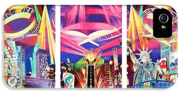 Times Square iPhone 5 Cases - Phish New York for New Years Triptych iPhone 5 Case by Joshua Morton