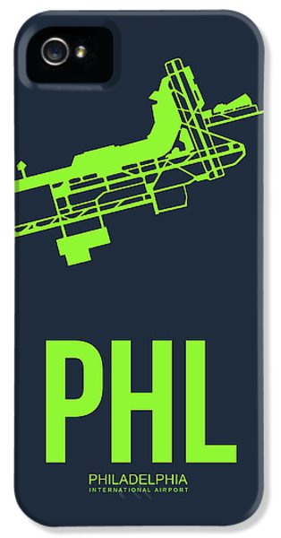 Philadelphia iPhone 5 Cases - PHL Philadelphia Airport Poster 3 iPhone 5 Case by Naxart Studio