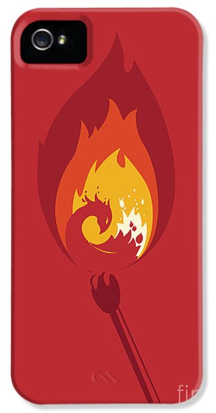 Burnt iPhone 5 Cases - Phoenix iPhone 5 Case by Budi Kwan