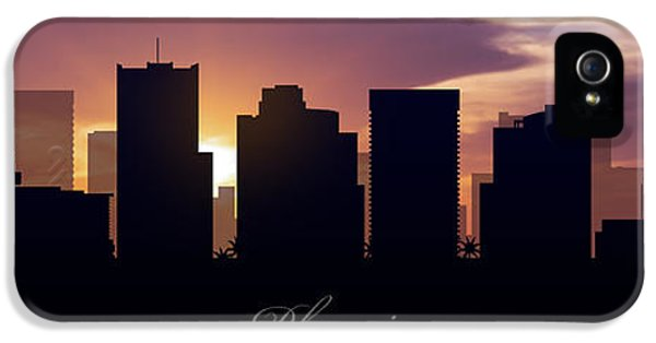 Phoenix iPhone 5 Cases - Phoenix Sunset iPhone 5 Case by Aged Pixel