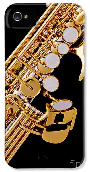 Rock And Roll Photographs Pictures iPhone 5 Cases - Photograph of a Soprano Saxophone Color 3355.02 iPhone 5 Case by M K  Miller