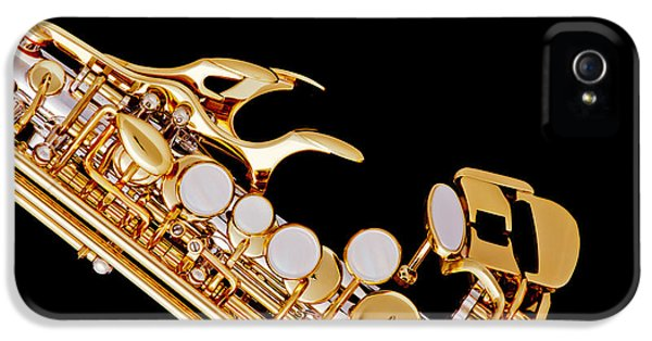 Rock And Roll Photographs Pictures iPhone 5 Cases - Photograph of a Soprano Saxophone in Color 3342.02 iPhone 5 Case by M K  Miller