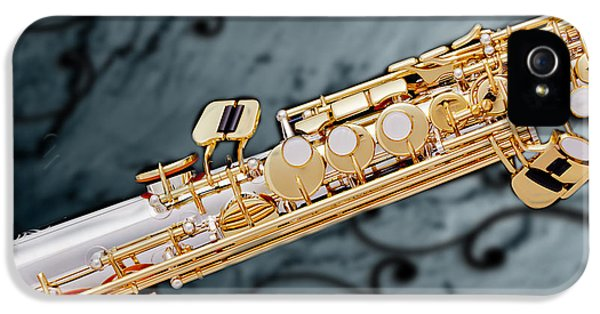 Rock And Roll Photographs Pictures iPhone 5 Cases - Photograph of Classic Soprano Saxophone 3349.02 iPhone 5 Case by M K  Miller