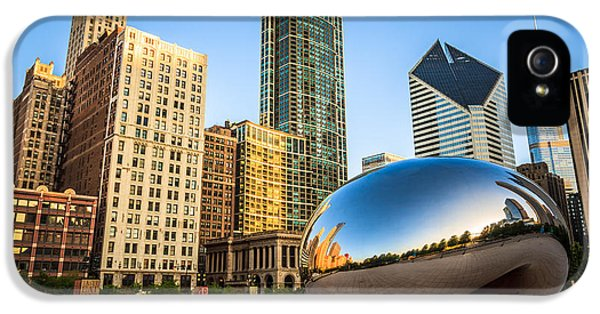 Cloud Gate iPhone 5 Cases - Picture of Cloud Gate Bean and Chicago Skyline iPhone 5 Case by Paul Velgos
