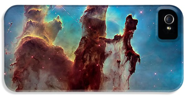 Pillar iPhone 5 Cases - Pillars of Creation in High Definition Cropped iPhone 5 Case by The  Vault - Jennifer Rondinelli Reilly