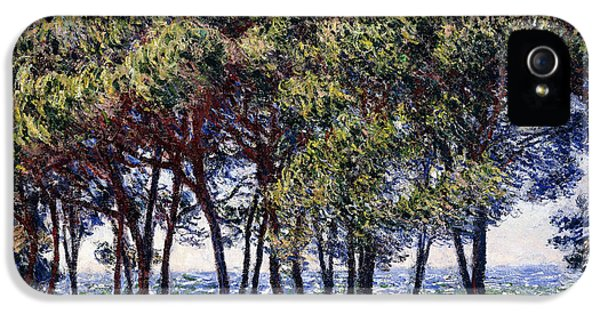 Summertime iPhone 5 Cases - Pines iPhone 5 Case by Claude Monet