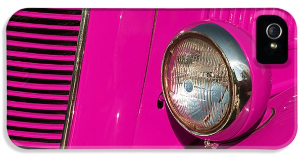 Classical iPhone 5 Cases - Pink Car iPhone 5 Case by Carlos Caetano