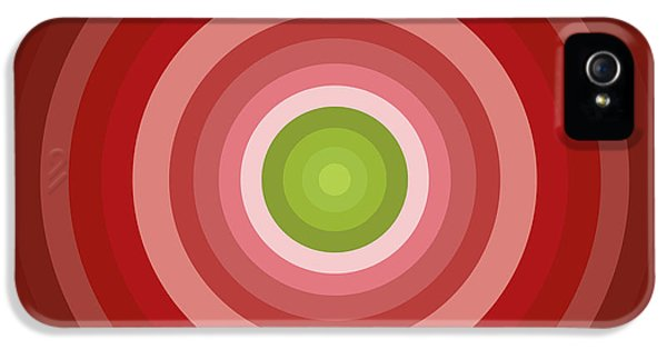Greenish iPhone 5 Cases - Pink Circles iPhone 5 Case by Frank Tschakert