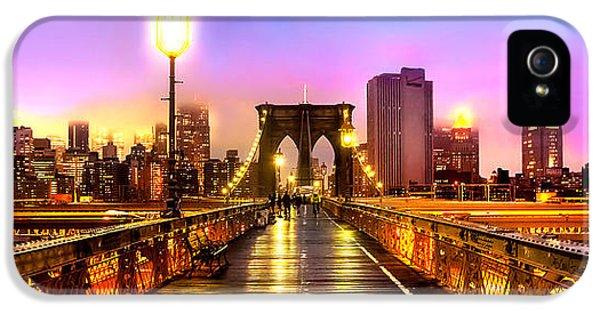 Swirls iPhone 5 Cases - Pink Fog Of New York City iPhone 5 Case by Az Jackson