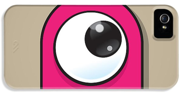 Eyeball iPhone 5 Cases - Pink iPhone 5 Case by Samuel Whitton