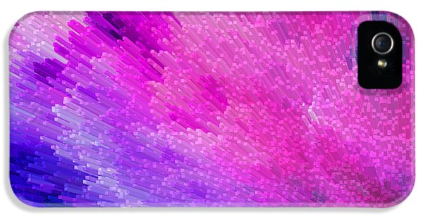 Wrapped iPhone 5 Cases - Pink Star Dust Abstract Art By Sharon Cummings iPhone 5 Case by Sharon Cummings