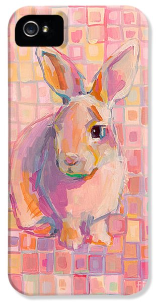 Bunny iPhone 5 Cases - Pinky iPhone 5 Case by Kimberly Santini