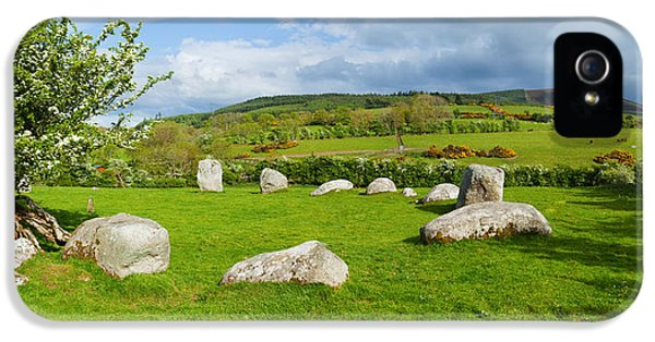 Social History iPhone 5 Cases - Pipers Stone Bronze Age Stone Circle 14 iPhone 5 Case by Panoramic Images