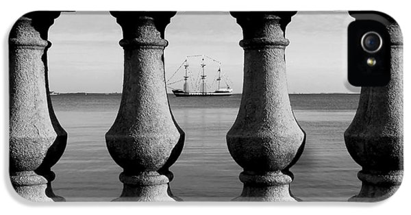 Ship iPhone 5 Cases - Pirate ship on the Bayshore iPhone 5 Case by David Lee Thompson