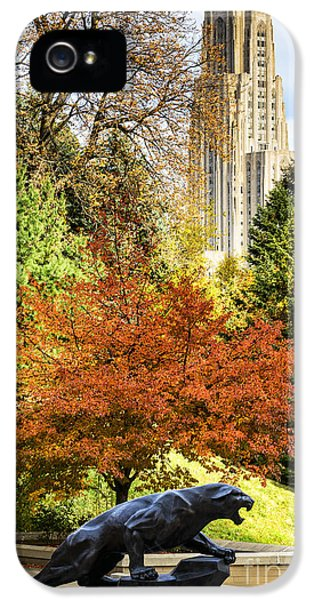 Pitt Panther And Cathedral Of Learning IPhone 5 / 5s Case by Thomas R Fletcher