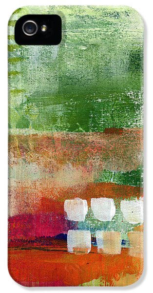 House Art iPhone 5 Cases - Plantation- abstract art iPhone 5 Case by Linda Woods
