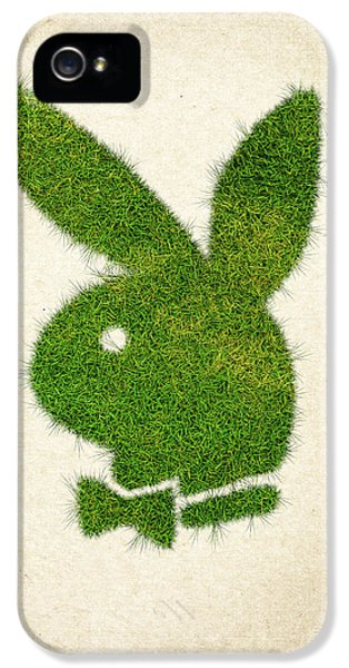 Eco iPhone 5 Cases - Playboy Grass Logo iPhone 5 Case by Aged Pixel