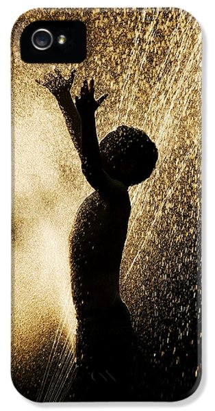 Boys Only iPhone 5 Cases - Playing In The Sprinkler iPhone 5 Case by Con Tanasiuk